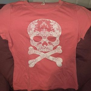 Floral Lace Skull shirt